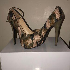 7 inch camouflage stiletto heels